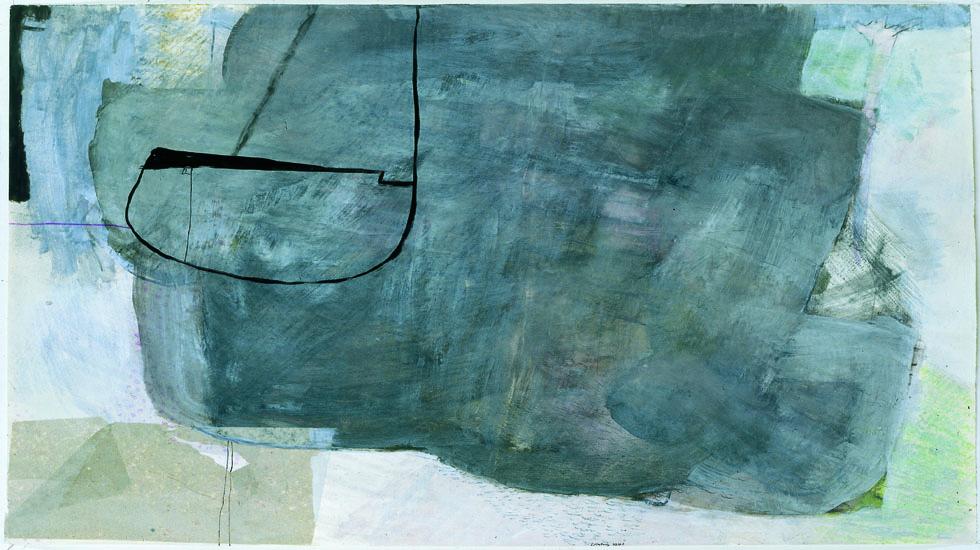 REGENTAG, 1999-2000, Mischtechnik auf Papier, 60 x 80 cm