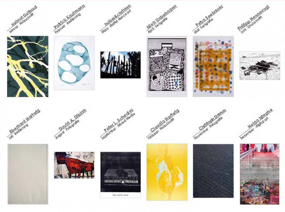 Die Monatsblätter des Kalenders 12 Monate - 12 Originale2015