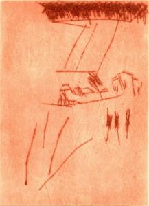 BEI SIENA, 1997/2000, Kaltnadelradierung, 13,2 x 9,6 cm