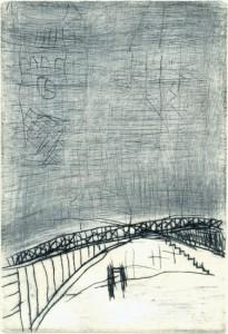 BRUECK, 05/2001, Kaltnadelradierung geschabt, 17 x 11,7 cm