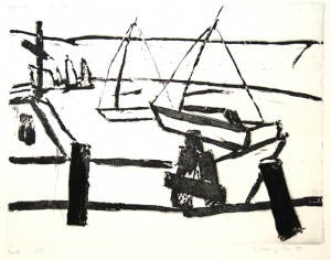 Boote, 1989, Reservage, 24,4 x 31,8 cm