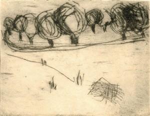 GUESTEBIESER LOOSE II, 06/2000, Kaltnadelradierung, 10,7 x 13,6 cm