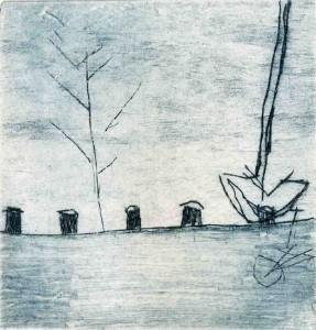 HAVEN III, 7/2002, Kaltnadelradierung, 10,7 x 10,2 cm
