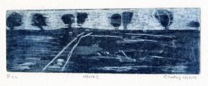 HENTR I, 10/2013, Aquatintaradierung, geschabt, 7,4 x 21,8 cm