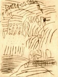 ITALIENISCH, 1997/2000, Kaltnadelradierung, 13 x 10 cm