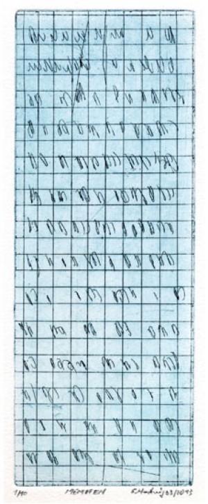 MEMO FEN, 03/2013, Strichätzung, 20,7 x 7,8 cm