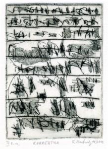 KORREKTUR, 11/2012, Kaltnadelradierung, 14,5 x 10,3 cm