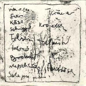 SCHMAND-WASSER, 07/2010, Vernis mou, 8,3 x 8,3 cm