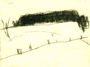 OBRUCH II, 06/2000, Kaltnadelradierung, 10,2 x 14 cm