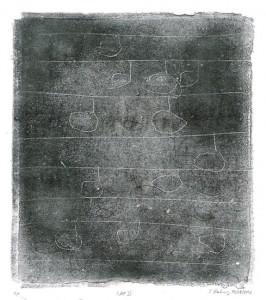 RAP II, 04.07.2012, Schwarz-Monotypie, 26 x 23 cm