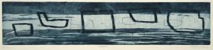 REEDE II, 11/2009, Aquatinta und Strichätzung, 8,4 x 40 cm