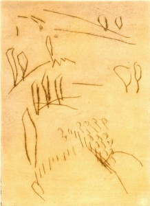 SIZILIANISCH, 1997/2000, Kaltnadel, 15,3 x 11,1 cm