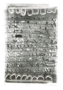 SKRIPT7, 12/2007, Schwarz-Monotypie, 37 x 25,5 cm