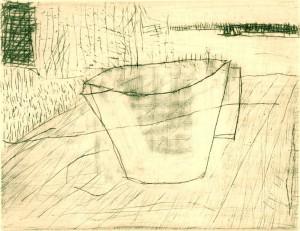 THEEWEEK, 11/2000, Kaltnadel, Sandpapier, Schaber + Wiegemesser, 11,8 x 15,3 cm