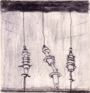 WARTEN V, 07/2001, Kaltnadelradierung und Wiegemesser, geschabt, 11,4 x 11 cm