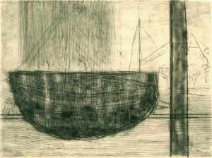 WIECK, 11/2000, Kaltnadel, Sandpapier, Schaber + Wiegemesser, 12,2 x 16,5 cm
