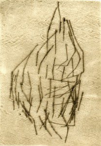 WIEPERSDORF IV, 1997-2000, Kaltnadelradierung, 14,5 x 10 cm