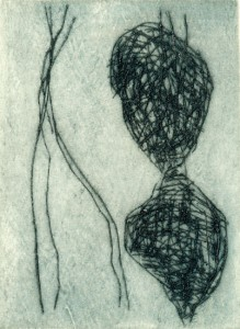WIEPERSDORF V, 1997-2000, Kaltnadelradierung, 14 x 10,5 cm