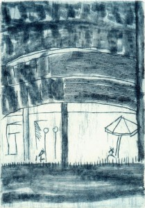 indisoft, 07/2001, Kaltnadelradierung und Wiegemesser, 16 x 11,5 cm
