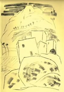 BERGDORF, 10/2012, Kreide-Lithographie, 40 x 28 cm