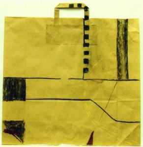 BOESNER, 2003, Kohle, Kreide auf Packpapier, 50 x 47 cm