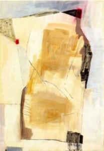 FELSWIESANDSTEINIMAUGUST, 2005, Mischtechnik auf Papier, 101 x 70 cm