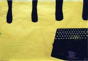GROSSESKOHLVELD, 2003, Tusche, Kreide, Gesso, Buntstift auf Werkdruckpapier, 75 x 105 cm