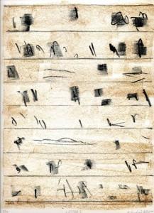 LETTER I, 05/2011, 2-Farb-Kreide-Lithographie, 29 x 22 cm