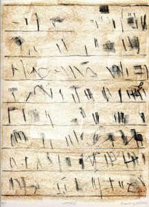 LETTER II, 05/2011, 2-Farb-Kreide-Lithographie, 29 x 22 cm