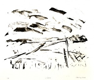 L,WOLKIG, 02/2009, Kreide-Tusche-Lithographie, 22 x 30 cm