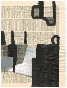 NACHMIETER, 2002, Tusche, Gesso auf Zeitpapier, 31,3 x 21,4 cm