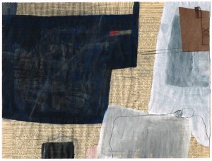 NORDSEE, 04/2000, Mischtechnik und Collage auf Zeitpapier, 23,5 x 31 cm