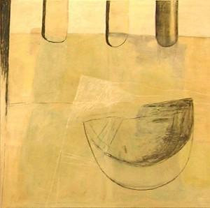 PETEREITSGARTEN, 2006, Mischtechnik auf Leinwand, 160 x 180 cm