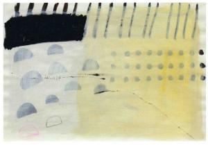 STROH, 2003, Tusche, Gesso, Pigment, Buntstift auf Zeichenpapier, 42 x 59 cm