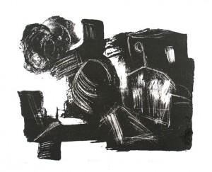 STUERMET, 12/2000, schwarze Tusche-Schablithographie, 26 x 32 cm