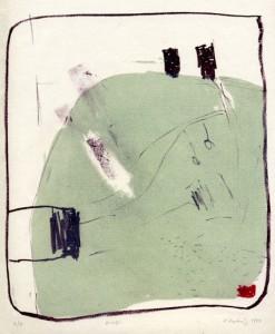ZWEI, 1/1999, 3-Farb/2 Steine-Kreide-Tusche-Lithographie, 24 x 20,5 cm
