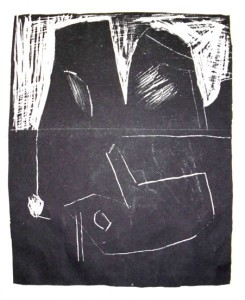 o.T. (BOOT), 04/1998, Schablithographie, 25,2 x 20,7 cm