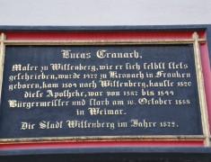 Schloßstr. 1, Cranach-Apotheke, Schild, 03.10.2014, LWi-0044