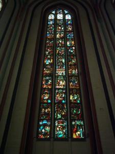 Bleiglas-Christusfenster, Marienkirche, Frankfurt/Oder, Foto: Markus Borgmann