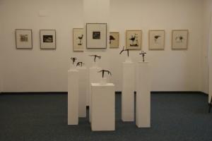 R. Mucke, Zeichnungen, und E. Graetz, Zeichnungen und Objekte,   Foto: E. Hartwig