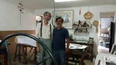 Visita de un colega de Alemania con una gran experiencia en litografia Eberhard Hartwig - with Abraham Torres, 27.07.2017