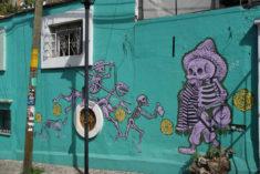Mural, Cjon. del Carmen, Oaxaca-Stadt, 27.07.2017