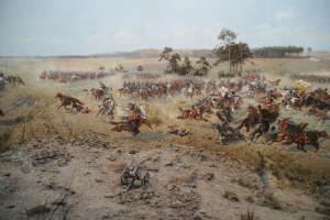 Panorama der Schlacht bei Raclawice (1794), von Jan Styka und Wojciech Kossak, 1894, Öl auf Leinwand, 15 m x 114 m, Jana Ewangelisty Purkyniego, 25.10.2016