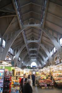 Markthalle, gebaut 1906-08, Stahlbeton-Parabolspanten-Konstruktion, 25.10.2016