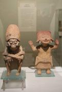 toltekische Tonfiguren u.a. Tod, Museo Regional, Calle de M. Alcala, Oaxaca-Stadt, 29.07.2017