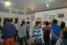 Ausstellungseröffnung E. Hartwig, Galerie 910, Calle Macedonio Alcala 305, Oaxaca-Stadt, 29.07.2017, Foto B. Lau