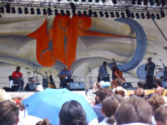 Afrikanischer Free-Jazz auf der großen Marktbühne, Rudolstadt, Juli 2010