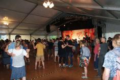 Blowzabella im Tanzzelt, Heinepark, Rudolstadt, 08.07.2018