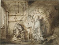 Constantijn Daniel van Renesse und Rembrandt Harmensz. van Rijn - Die Verkündigung an Maria, um 1652