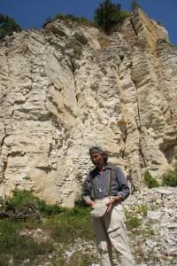 E. Hartwig im Steinbruch, Arzberg, bei Beilngries, Foto: B. Lau